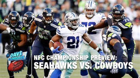 seahawks  cowboys nfc championship preview dave da