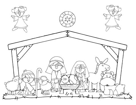 Mary Joseph And Baby Jesus Coloring Page - Costumepartyrun