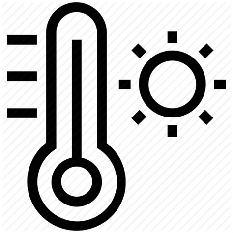what does a thermometer icon in the weather channel climate high temperature day temperature