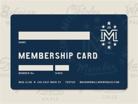 14 Best Images About Membership Card On Pinterest Gift