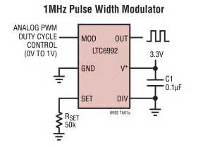 ltc6992 1 1mhz pulse width modulator circuit collection analog devices