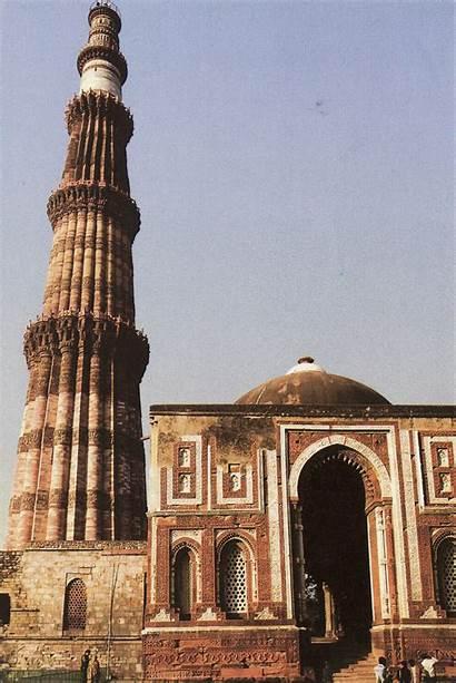 Minaret Islamic Architecture Minar Qutb Postcards Meter