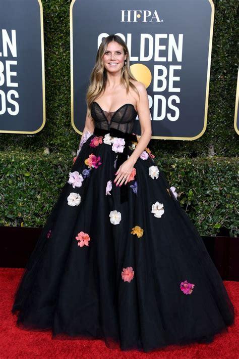 Heidi Klum Monique Lhuillier Golden Globe Awards