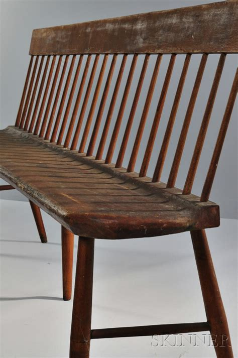 shaker settee shaker stained pine and birch settee sale number