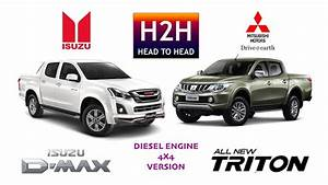 H2h  85 Isuzu D-max Vs Mitsubishi All New Triton