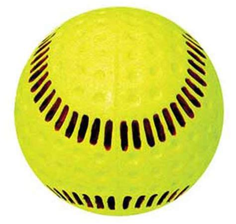 baden psbrsy dimpled machine softball  yellow