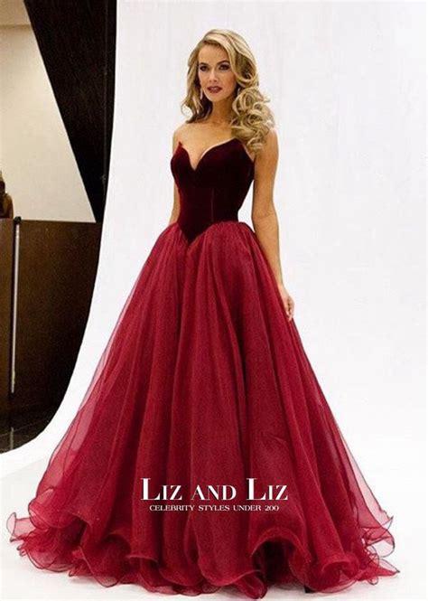 olivia jordan burgundy strapless sweetheart prom dress