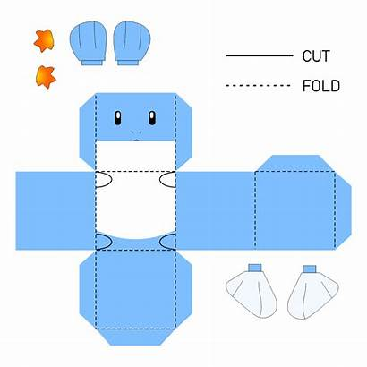 Pokemon Papercraft Craft Printablee Evolution Charizard Mudkip