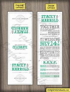 custom wedding invitations from winnipeg canada empire With tri fold wedding invitations canada