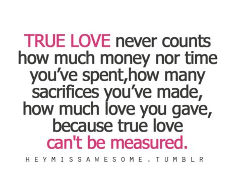 Sacrifice True Love Quotes