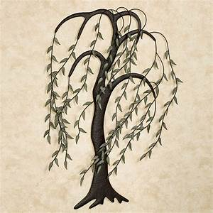 willow breeze tree metal wall art sculpture With tree wall art