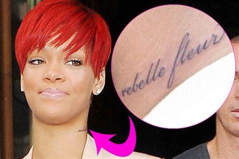 Rihanna's Tattoos Meanings  Girl Gloss