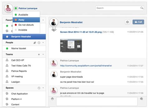 chat rooms exo platform 4 1 real time collaboration collaboration
