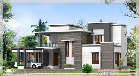 sq feet contemporary villa plan  elevation