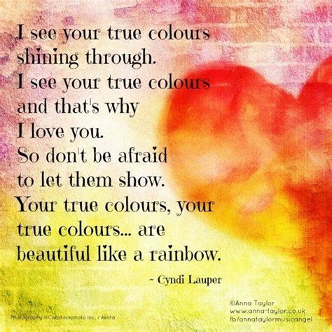 song true colors cyndi lauper true colors lyric true colors song