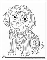Coloring Adult Animal Adults Animals Teens Dog Puppy Activities Printables sketch template
