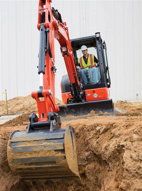 kubota compact excavators summarized  spec guide compact equipment