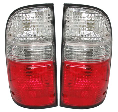 04 tacoma tail lights 01 04 toyota tacoma red clear tail lights depo 02 03 ebay