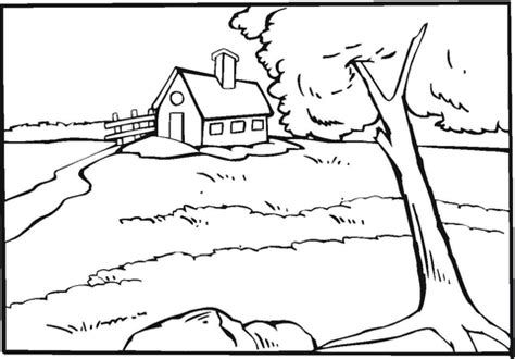 country house   river coloring page supercoloringcom