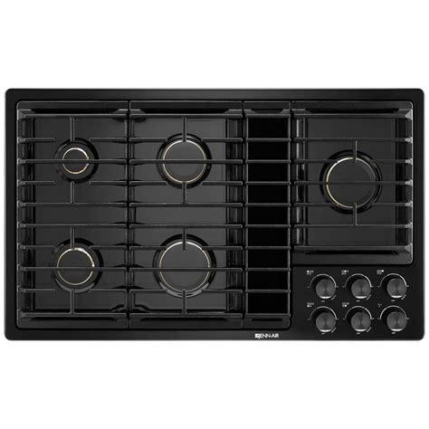 jgdgb jenn air  downdraft gas cooktop black  black haywood appliance
