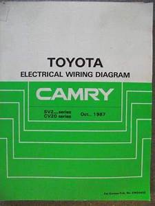 Toyota Camry Electrical Wiring Diagram Manual 1987 Ewd045e