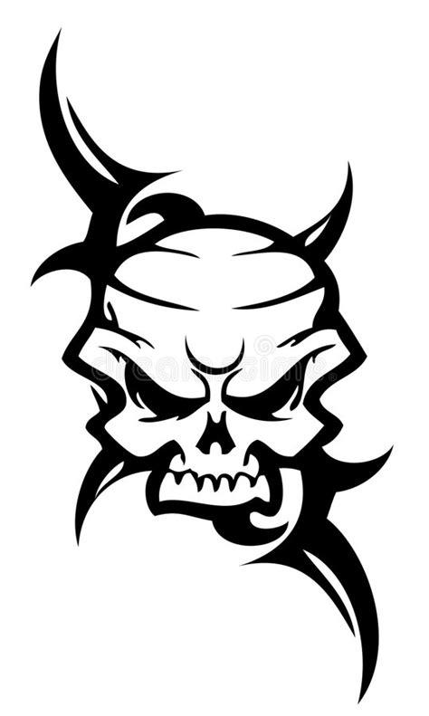 skull tattoo stock vector illustration  flower arms