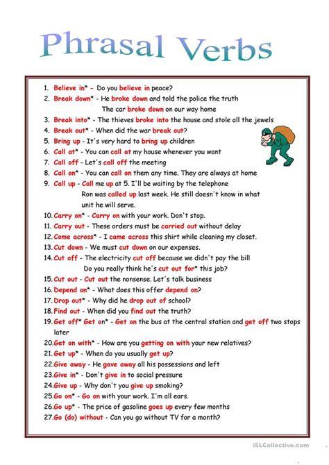 53 Phrasal Verbs  Rules + Exercises Worksheet  Free Esl Printable Worksheets Made By Teachers
