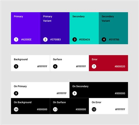 material colors the color system material design