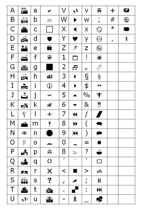 symbolschriftarten vancra