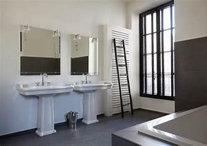 appartement parisien the bathroom contemporain salle With porte de douche coulissante avec carrelage salle de bain metro parisien