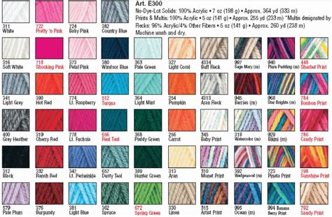 redheart yarn colors yarn color chart 2015 images yarn