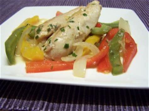 cuisiner les filets de poulet filet de poulet aux poivrons plat du jour recettes de
