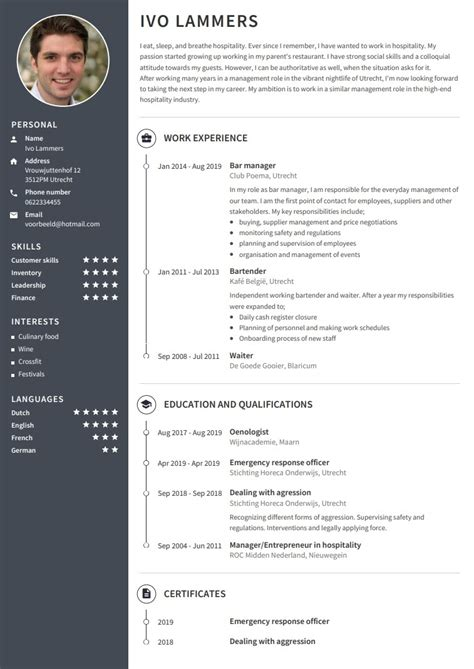 Copie Cv by Cv Exles Use Our Templates To Professionally Format