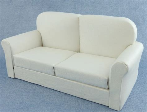 White Leather Sofa Ebay by Dolls House White Leather Sofa Miniature 1 12 Scale Living