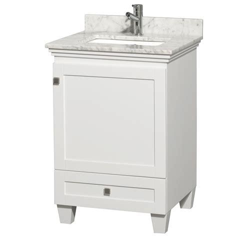 white single bathroom vanity 24 quot acclaim single bathroom vanity set by wyndham