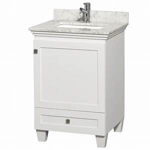 acclaim 24quot white bathroom vanity set solid oak vanity blends With white vanity cabinets for bathrooms