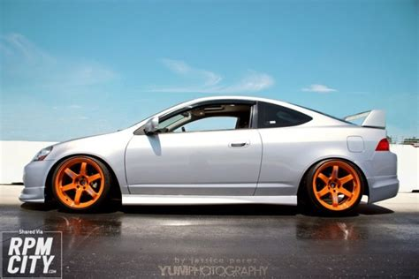 Acura Rsx Rims by This Silver Rsx Orange Combo Rpm City