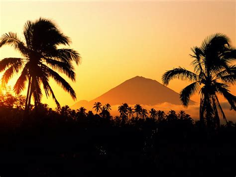 gunung agung bali   nature