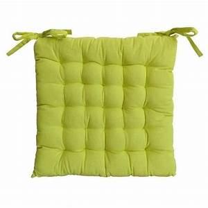 Galette De Chaise : galette de chaise 25 points 40x40x4cm vert anis achat ~ Melissatoandfro.com Idées de Décoration