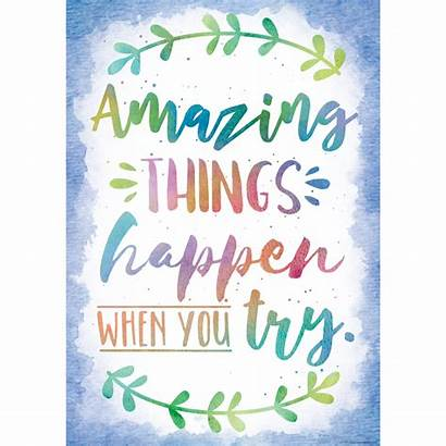 Positive Poster Amazing Try Things Happen