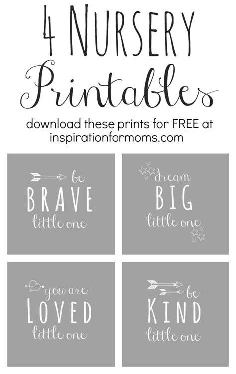 17 free baby nursery printables pretty my