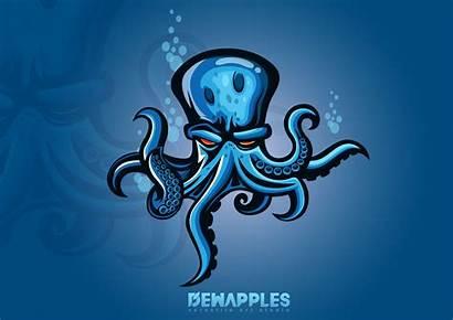 Kraken Octopus Mascot Gaming Esport Logos Behance