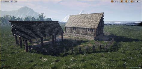 model medieval farm workshop house cgtrader