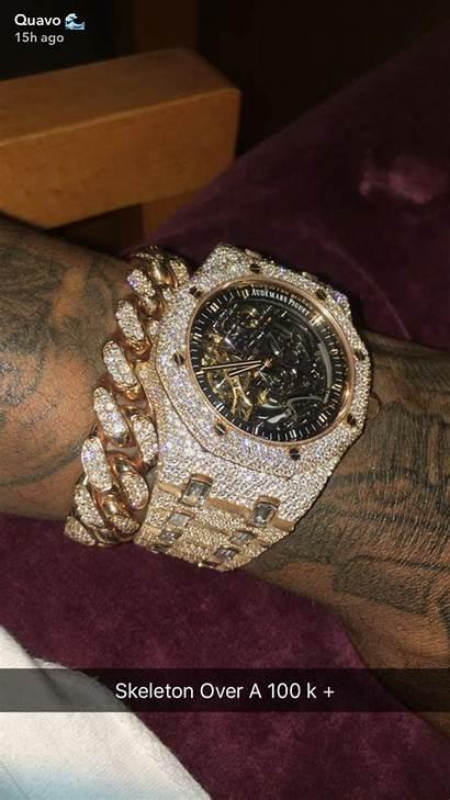 Iced Ap Quavo Watches Rolex Ice Skeleton