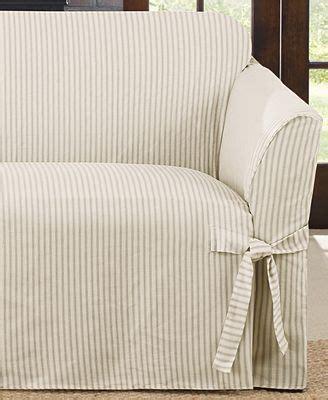 ticking stripe sofa slipcover sure fit ticking stripe sofa slipcover slipcovers for