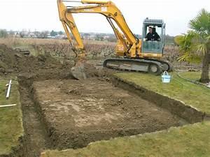construction de mon abri de jardin enfin le terrassement With terrassement d un terrain