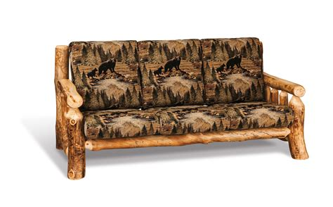 rustic log cabin sofa  dutchcrafters amish furniture