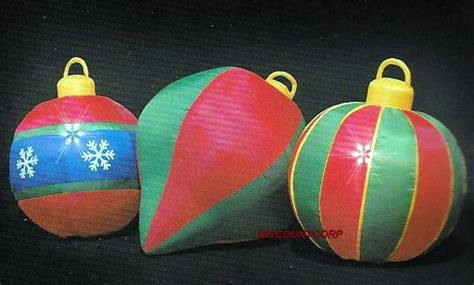 ft inflatable ornaments lighted outdoor christmas yard
