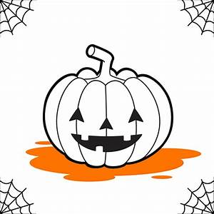 Une Citrouille Pour Halloween : comment dessiner une citrouille lanterne ~ Carolinahurricanesstore.com Idées de Décoration