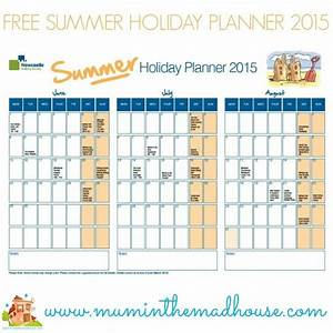 Summer Planner Calendar  Vacation Schedule Calendar
